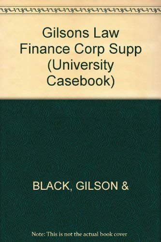 9781566628785: Law & Finance of Corporate Acquisitions (University Casebook)