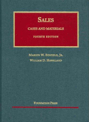 9781566629508: Sales: Cases and Materials (University Casebook Series)