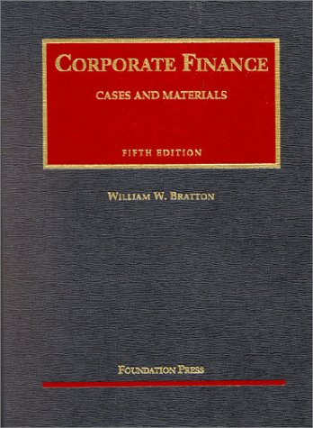 9781566629591: Corporate Finance: Cases and Materials (University Casebook)