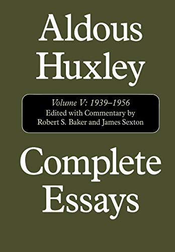 1939 1956 5 aldous complete essay huxley vol Shop from the world's largest selection and best deals for saturday review literary magazine back issues  by aldous huxley  december 30 1939 vol xxi, no.