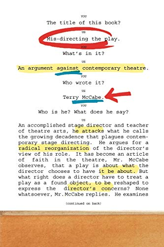 9781566637992: Mis-directing the Play: An Argument Against Contemporary Theatre