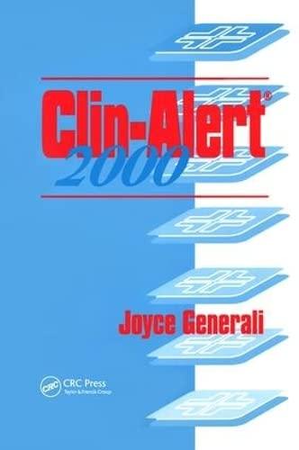 Clin-Alert 2000 (1566769620) by Joyce A. Generali