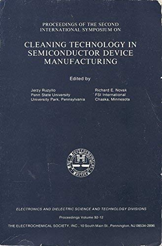 9781566770125: Cleaning Technology in Semiconductor Device Manufacturing (Proceedings Series Volume 92-12)