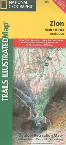 Zion National Park: Utah, USA (National Geographic Maps: Trails Illustrated)