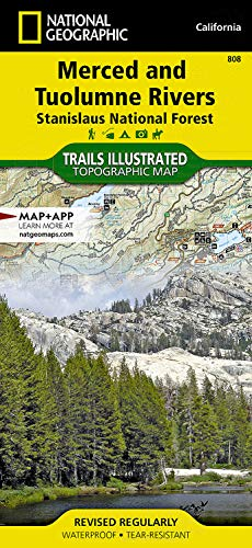 9781566952415: Merced and Tuolumne Rivers [Stanislaus National Forest] (National Geographic Trails Illustrated Map)