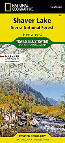 9781566952422: Shaver Lake / Sierra National Forest, California (Trails Illustrated Map) (National Geographic Trails Illustrated Map)