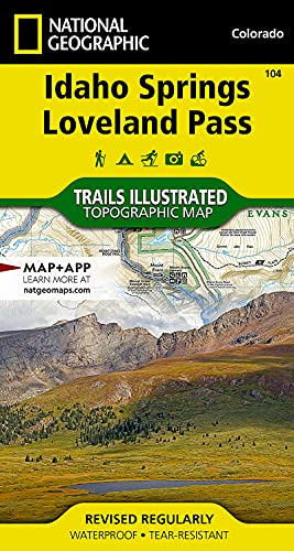 National geographic maps used books rare books and new books idaho springs loveland pass national geographic trails illustrated map 9781566952491 by gumiabroncs Choice Image