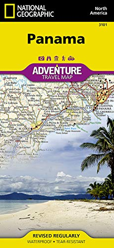 Panama National Geographic Adventure Map AbeBooks - National geographic travel map