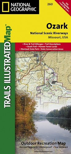 Ozark National Scenic Riverways MO Trails - Trails illustrated maps