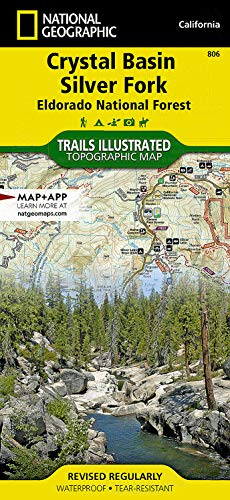 Crystal Basin Silver Fork Eldorado National Forest Map