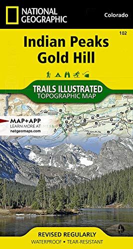 102 Indian Peaks/ Gold Hill Trail -CO natg (Trails Illustrated): National Geographic Maps