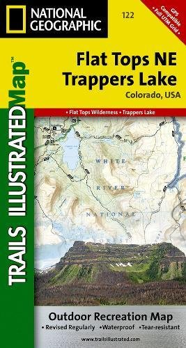 9781566952781: Flat Tops NE, Trappers Lake (National Geographic Trails Illustrated Map)