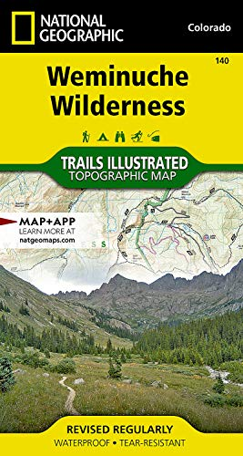 9781566952910: Weminuche Wilderness (National Geographic Trails Illustrated Map)