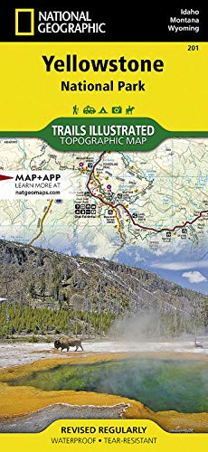 9781566952958: Yellowstone National Park (National Geographic Trails Illustrated Map)