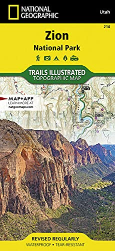 9781566952972: National Geographic Trails Illustrated Topographic Map Zion National Park