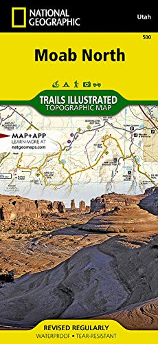 9781566953054: Moab North (National Geographic Trails Illustrated Map)