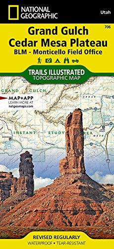 9781566953078: Grand Gulch Plateau Topographic Map: BLM - San Jose Resource Area, Utah, USA (National Geographic Trails Illustrated Topographic Map)