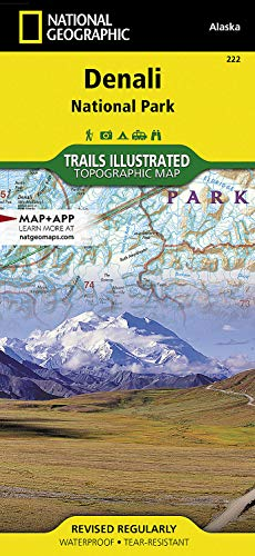 Denali National Park & Preserve Map Alaska