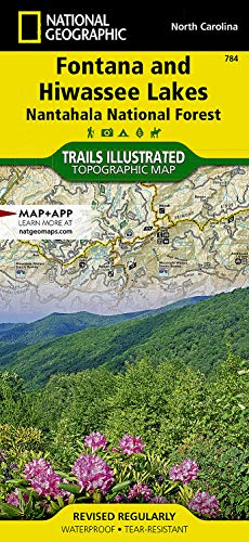 9781566953337: Fontana and Hiwassee Lakes [Nantahala National Forest] (National Geographic Trails Illustrated Map)