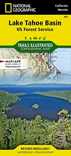 9781566953344: Lake Tahoe Basin [US Forest Service] (National Geographic Trails Illustrated Map)