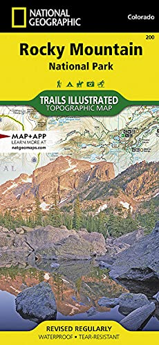 9781566953429: Rocky Mountain National Park Hiking Map