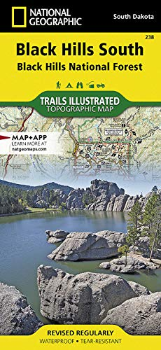 9781566953474: Black Hills South [Black Hills National Forest] (National Geographic Trails Illustrated Map)