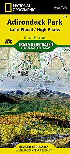 9781566953573: Lake Placid, High Peaks: Adirondack Park (National Geographic Trails Illustrated Map)