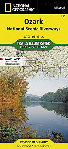 9781566953597: Ozark National Scenic Riverways (National Geographic Trails Illustrated Map)
