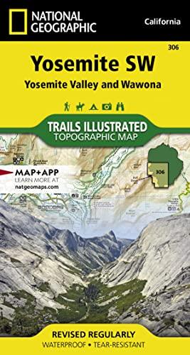 9781566953627: Yosemite SW: Yosemite Valley and Wawona (National Geographic Trails Illustrated Map)