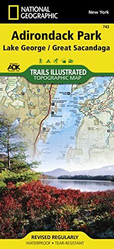 9781566953634: Lake George, Great Sacandaga: Adirondack Park (National Geographic Trails Illustrated Map)
