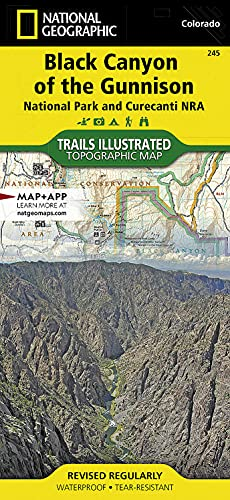 9781566953689: Black Canyon of the Gunnison National Park [Curecanti National Recreation Area] (National Geographic Trails Illustrated Map)