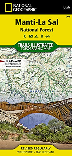 9781566953771: Manti-La Sal National Forest (National Geographic Trails Illustrated Map)