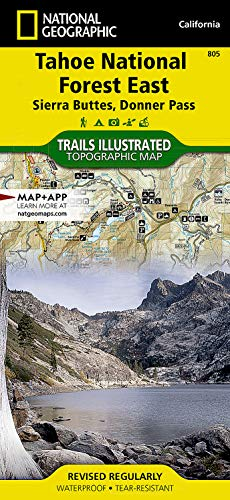 9781566953818: Tahoe National Forest East [Sierra Buttes, Donner Pass] (National Geographic Trails Illustrated Map)
