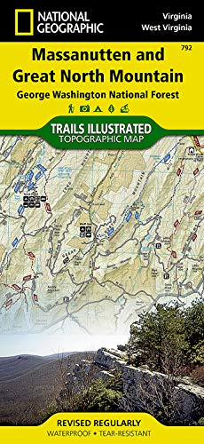 Massanutten/great Northern Mountains G.w. & Jefferson N.f.s: National Geographic Maps