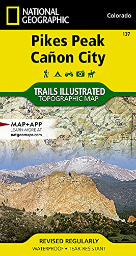 9781566953986: Pikes Peak, Canon City (National Geographic Trails Illustrated Map)