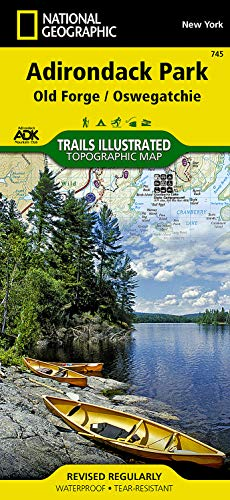 9781566954198: National Geographic Trails Illustrated Map Old Forge / Oswegatchie, Adirondack Park: New York