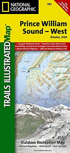 9781566954204: Prince William Sound, West 761 GPS ng r/v wp /Alaska (National Geographic Maps: Trails Illustrated)