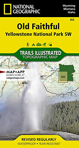 9781566954334: Old Faithful: Yellowstone National Park SW (National Geographic Trails Illustrated Map)