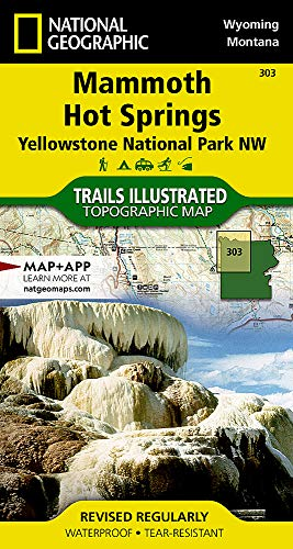 9781566954341: Mammoth Hot Springs 303 ng Yellowstone NP NW (National Geographic Trails Illustrated Map)