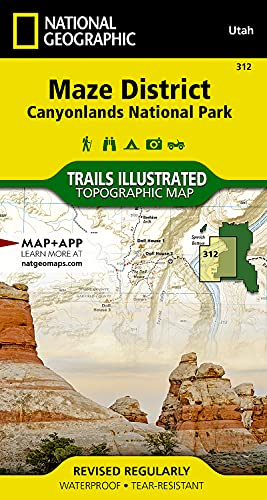 9781566954624: Maze District: Canyonlands National Park (National Geographic Trails Illustrated Map)