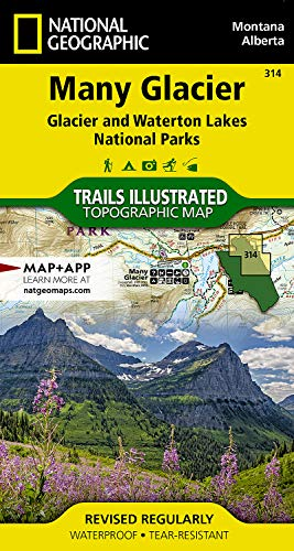Many Glacier, Glacier National Park: Trails Illustrated National Parks