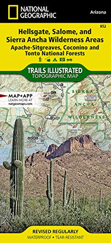 9781566954860: Hellsgate, Salome, and Sierra Ancha Wilderness Areas [Apache-Sitgreaves, Coconino, and Tonto National Forests] (National Geographic Trails Illustrated Map)