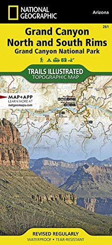 9781566954952: Grand Canyon, North and South Rims [Grand Canyon National Park] (National Geographic Trails Illustrated Map)