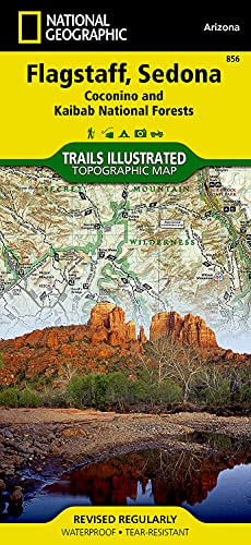 9781566955157: Flagstaff, Sedona [Coconino and Kaibab National Forests] (National Geographic Trails Illustrated Map)