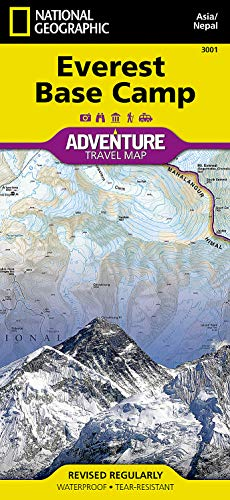 Everest Base Camp, Nepal: Travel Maps International: National Geographic Maps
