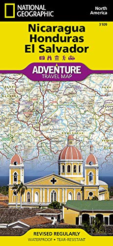9781566955287: Nicaragua, Honduras, and El Salvador (National Geographic Adventure Map)