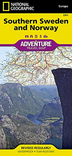 9781566955331: Southern Sweden and Norway (National Geographic Adventure Map)
