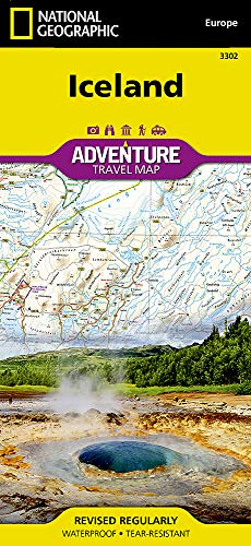 9781566955348: Iceland (National Geographic Adventure Map)