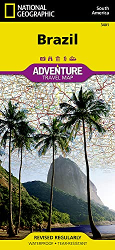 9781566955454: Brazil (National Geographic Adventure Map)