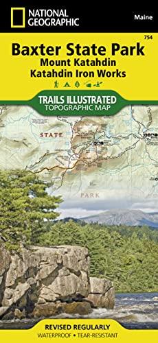 9781566955850: Baxter State Park [Mount Katahdin, Katahdin Iron Works] (National Geographic Trails Illustrated Map)